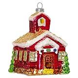 SIKORA BS343 Kirche Christbaumschmuck Glas Figur Weihnachtsbaum Anhänger