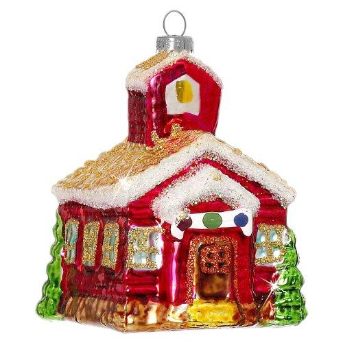 Sikora BS343 Addobbi per Albero di Natale di Vetro - Chiesa Brillantini 6,5 cm