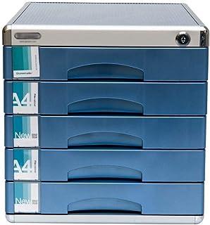 KANJJ-YU Meuble de rangement de tiroir 5 couches en alliage d'aluminium A4 pour le bureau (30,5 x 36,6 x 31 cm)