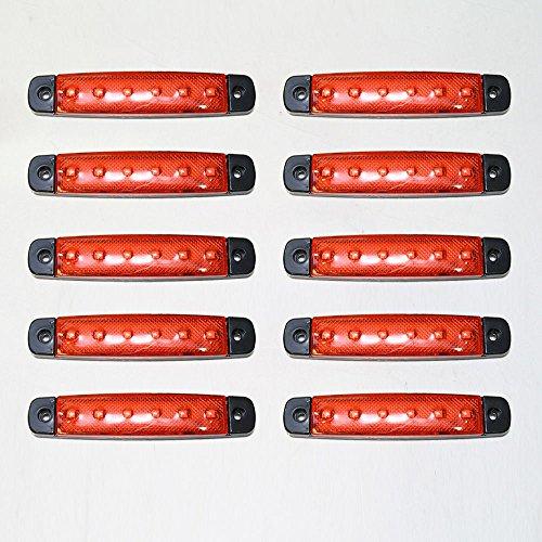 Universel 10 x 12 V LED Rouge clair SMD Indicateur Side Marker lumière