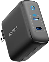 Anker 36W 2-Port PowerIQ 3.0 USB C Charger, PowerPort III Duo Compact Type C Wall Charger, Foldable Plug, Power Delivery for iPhone XR/Xs/Max/X/8/Plus, Galaxy S10/S9, Pixel 3a/3/XL, iPad Pro, and More