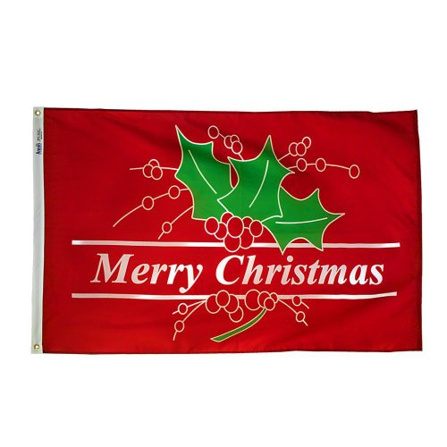 Annin 2635 Flagmaker Merry Christmas Nyl-Glo Holiday Flag, 3 by 5-Feet