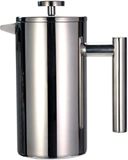 De Franse pers Stainless Steel Double Layer Franse Persen Coffee Pot mokken die grotere capaciteit Manual cafe's Espresso ...