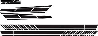 6PCS Car Stickers Strip Style Universal Car Hook Mirror Body Side Stickers Decal Vinyl Black