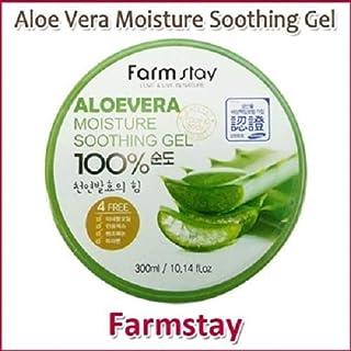 Farm Stay Aloe Vera Moisture Soothing Gel 300ml /オーガニック アロエベラゲル 100%/保湿ケア/韓国コスメ/Aloe Vera 100% /Moisturizing [並行輸入品]