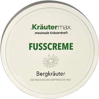 Kräutermax Fußcreme Bergkräuter 1 x 100 ml Fuß-Pflege-Creme ohne Parabene