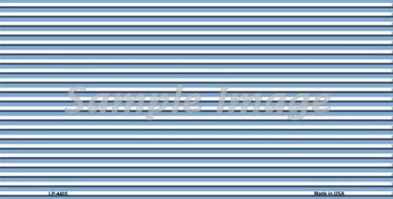 Smart Blonde LP4405 Light bluee White Pinstripe Metal Novelty License Plate