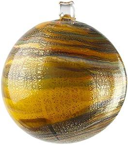 Bola de Navidad – Naranja Twisted Fantasy – Cristal de Murano Original OMG