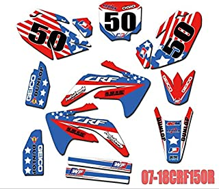 Custom Number GRAPHICS BACKGROUNDS DECALS STICKERS Kits for Honda CRF150R CRF 150R 2007 2008 2009 2010 2011 2012-2018 CRF150 R