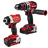 Einhell 4.0 Ah Cordless Power X-Change Combi Drill and Impact Driver Brushless Kit - Twin Pack