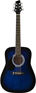 Stagg SW201 3/4 LHBLS Left Handed, 3/4 Size Dreadnought Acoustic Guitar - Blueburst