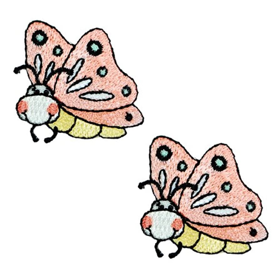 Expo BZP77506 Iron-on Embroidered Applique Patches, BaZooples Flutterbug, 2-Pack wo77671424