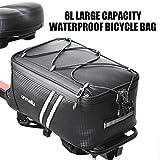自転車 パニアバッグ リアバッグ サイドバッグ バイク 防水 大容量 軽い 収納力抜群 (29.5*16.5*12cm/ブラック)