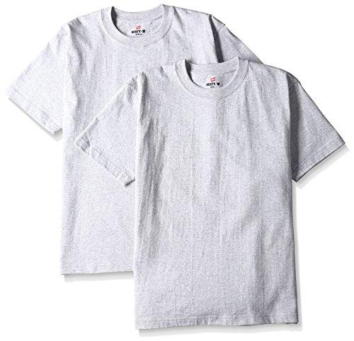 [ヘインズ] ビーフィー Tシャツ BEEFY-T 2枚組 綿100% 肉厚生地 ヘビーウェイト H5180-2 メンズ ヘザーグレー 日本 M (日本サイズM相当)