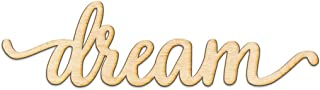 Dream Script Wood Sign Home Decor Wall Art Unfinished Charlie 18