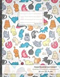 "Punktraster Notizbuch • A4-Format, 100+ Seiten, Soft Cover, Register, ""Verückte Katzen"" • Original #GoodMemos Dot Grid Notebook • Perfekt als Skizzenbuch, Tagebuch, Handlettering Übungsbuch"