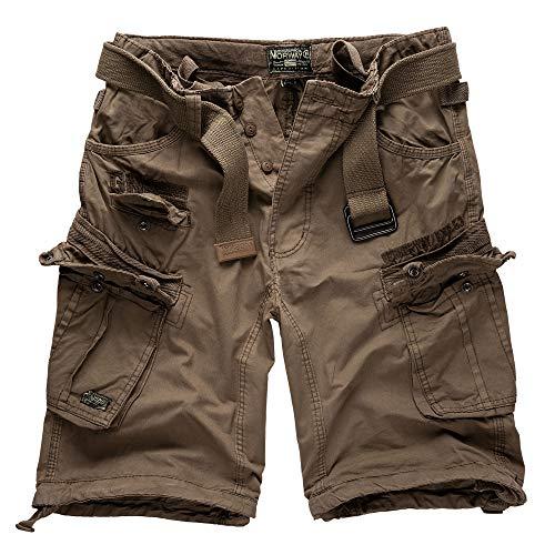 Geographical Norway - Pantaloncini cargo/Bermuda stile cacciatore con cintura e bandana UD Tempesta XXXXL