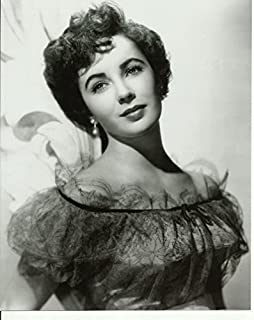 Elizabeth Liz Taylor close up glamour shot 8 x 10 Photo black dress