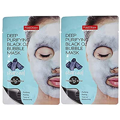 Purederm - Deep Purifying Black O2 Bubble Mask (Pack of 2)