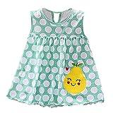 NPRADLA Toddler Joli Bébé Gilet sans Manches en Coton Fleur Enfants Dot Imprimé Rayé Tees Robe T-Shirt Gilet
