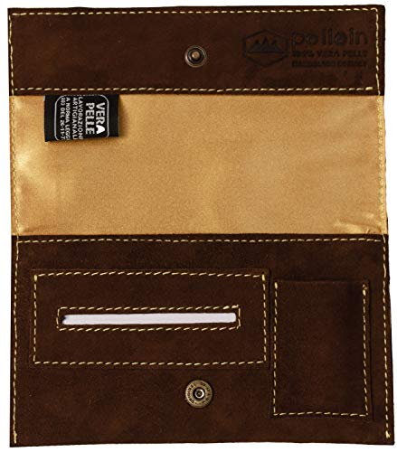 Pellein - Portatabacco in vera pelle Sahara - Astuccio porta tabacco, porta filtri, porta cartine e porta accendino. Handmade in Italy