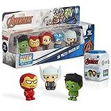 Marvel Figuras para Niños, Pack 5 Muñecos Gomas de Borrar Coleccionables, Puzzle Superheroes con Los Vengadores Capitan America Iron Man Hulk, Regalos Originales para Ninos