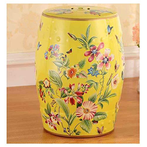 GYXZM Taburete Exterior Pintado A Mano Flores Y Pájaros Taburetes Chinos Taburete De Cerámica De Cerámica Banquetas Banqueta Redonda