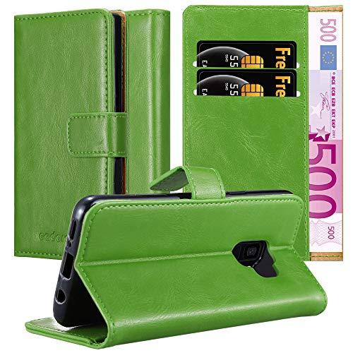 Cadorabo Funda Libro para Samsung Galaxy S9 en Verde Hierba - Cubierta Proteccíon con Cierre Magnético, Tarjetero y Función de Suporte - Etui Case Cover Carcasa