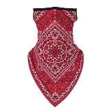 Máscara Braga triangular Pasley Rojo estilo pandillero ideal tanto para verano como para el resto del año. Protege del polvo, del sol, de los insectos, aparte de dar una estética brutal