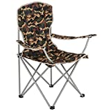 Highlander Traquair Chaise de Camping Pliante Adulte Mixte, Noir