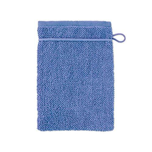 MÖVE parelstructuur Uni washandje 20 x 15 cm, handdoek - Made in Germany, 100% katoen, korenbloem (blauw)