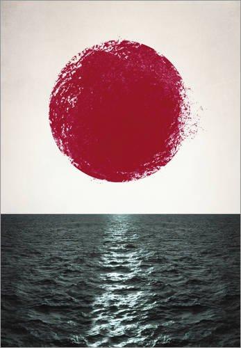 Poster 60 x 80 cm: Sunset von Amy and Kurt - hochwertiger Kunstdruck, neues Kunstposter