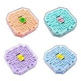 3D Laberinto Cubo Transparente Diez Cara Puzzle Velocidad Cubo Rolling Ball Juego Cubos Laberinto Juguetes para Niños Juguete Educativo