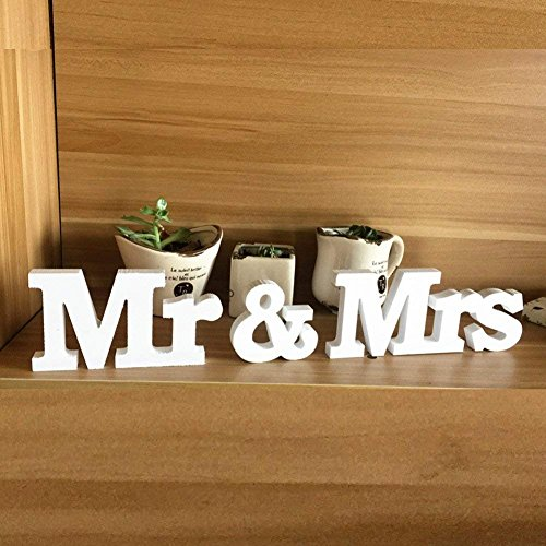 La décoration de table Mr & Mrs