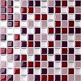 Nanly - Adesivi per piastrelle autoadesivi, 25,4 x 25,4 cm (4 fogli)
