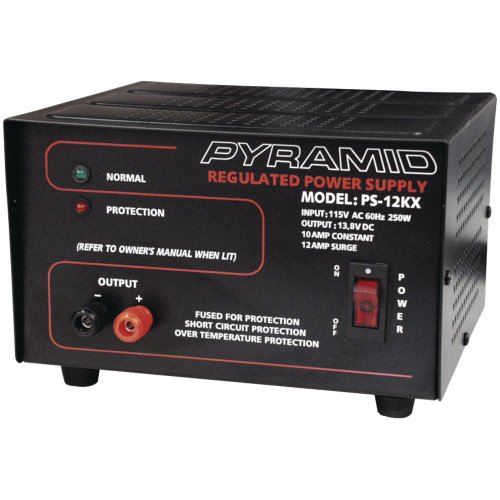 Pyramid Pyle Ps12kx 10 Amplifier Amp 13.8v Ac/dc Power Supply Converter Heavy Duty