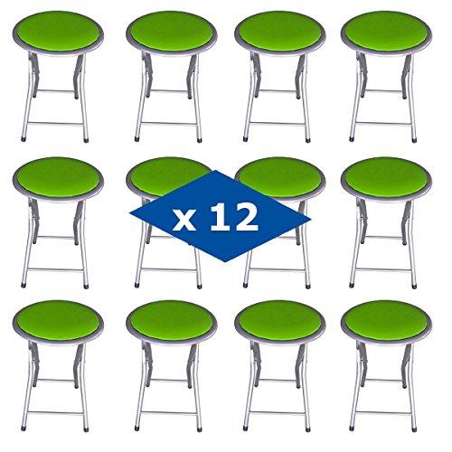 Innova PACK 12 TABURETES PLEGABLES VERDE (30*30*45 CM)