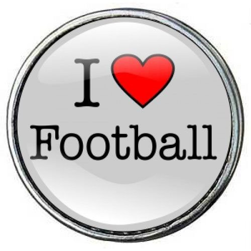 Click-Button Standard (18mm) Limited Edition, I love Football ...by Kult-Schmuck