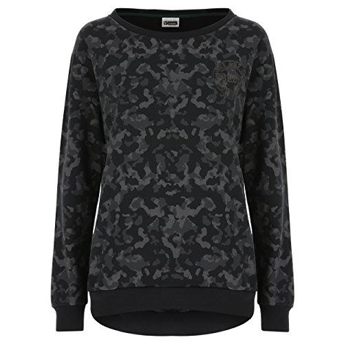 Freddy Damen 411 Choose Your Look Sweatshirt, Black Camouflage Allover, XS