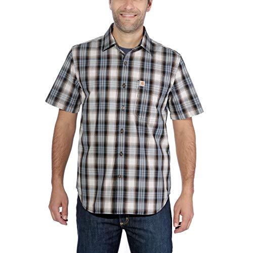 Carhartt Essential Open Collar S/S Shirt Plaid - Kurzarmhemd