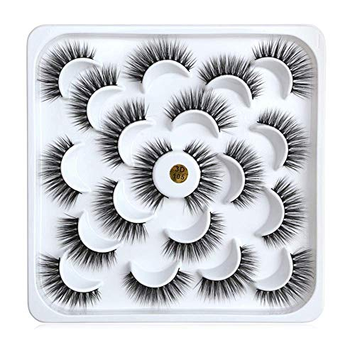 Meclelin Falsche Wimpern 3D Nerz Natürliche Make-up Wilde 10pair