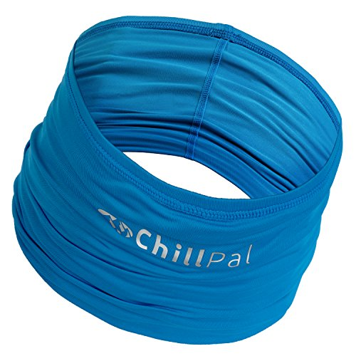 Chill Pal 12 in 1 Multi Style Cooling Towel Band (Blue, Full Size)
