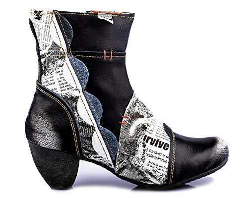 TMA 8911 Damen Stiefelette Leder schwarz - EUR 36