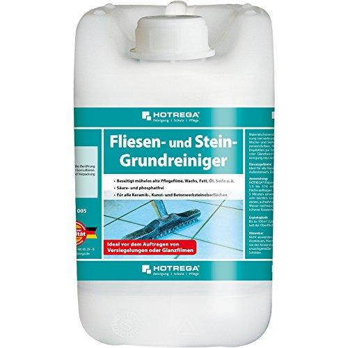 HOTREGA Fliesen und Stein Grundreiniger 5L - hochwirksamer Schmutzlöser für den Boden