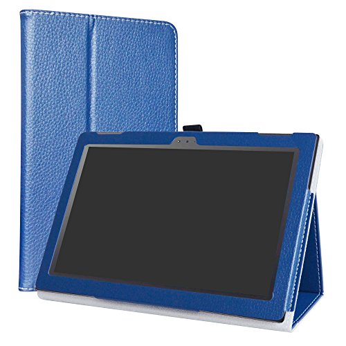 Lenovo Tab 4 10 Funda,LiuShan Folio Soporte PU Cuero con Funda Caso para 10.0' Lenovo Tab4 10 Android Tablet,Azul