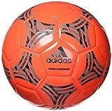 Tango Street Capitano Soccer Ball, Semi Solar Red/Carbon/Black/Grey, 3