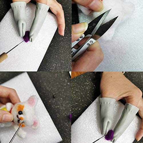 lmzay Needle Felting Tools, Wool Felting Supplies, Needle Felting Kit with 60 Pcs Needles Felting Needles, Foam Mat, Wooden Handle, Scissors, Perfect for DIY Felting Wool Projects