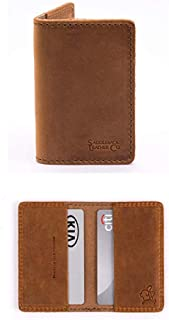 Slim Multi Business Card Holder Full Grain Leather Wallet for Men and Women Includes 100 Year Warranty