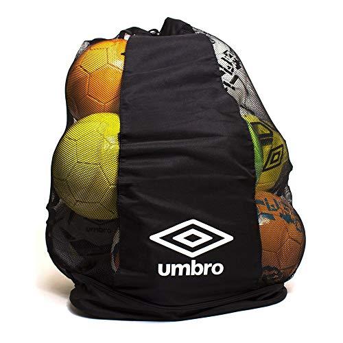 Umbro-Borsa per palloni da Calcio, Colore: Nero