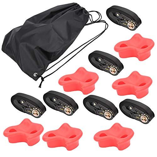 Goick Kletterstein Red Rock Klettertrainingshilfen ABS Polyester Tree Kit für Kinder Outdoor Fitness Zubehör